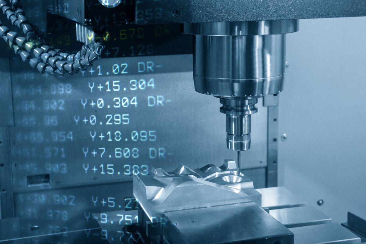 Máy phay CNC 3 trục và dữ liệu mã G cắt bộ phận khuông phun